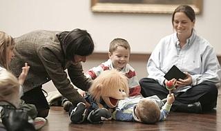 Kinderstunde mit den Handpuppen