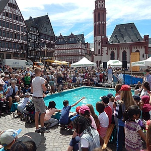 Das 10. Solarrennen auf dem Frankfurter Römerberg