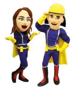 Captain Firefighter und Hydro-Girl