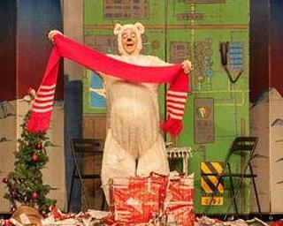 Frohe Weihnachten kleiner Eisbär