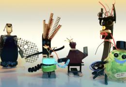 Schrott-Robos Bastelanleitung für zu Hause