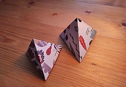 Experiment für Zuhause: Tetraeder falten