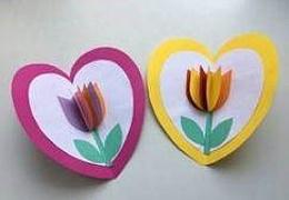 Tulpen-Faltkarte