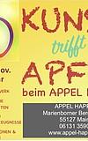 Kunst trifft Apfel