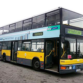 Frankfurt testet Einsatz von Doppeldecker-Bussen