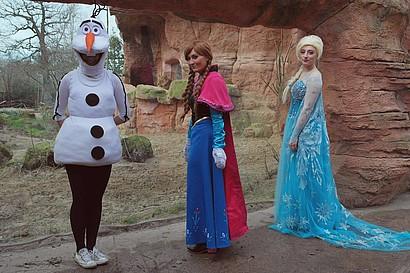 Elsa, Anna und Olaf