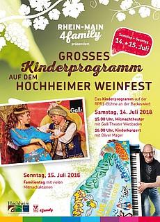 Kinderprogramm auf der RPR1-Bühne beim Hochheimer Weinfest