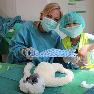 11. Frankfurter Teddy-Klinik hilft Kindern spielerisch Ängste abzubauen