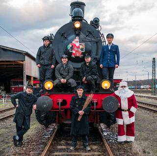 Der Nikolaus im Eisenbahnmuseum