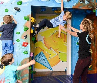 Familienworkshop in der Boulderwelt