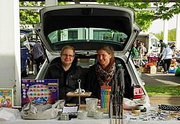 Flohmarkt in Frankfurt-Karlbach