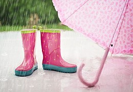 Frühes Forschen: Regentropfen haben Kraft