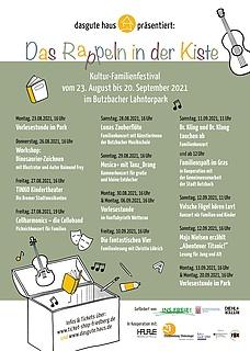 "Kultur-Familienfestival ""Das Rappeln in der Kiste"""