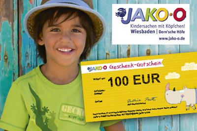 3. PREIS: 100 € Gutschein von JAKO-O