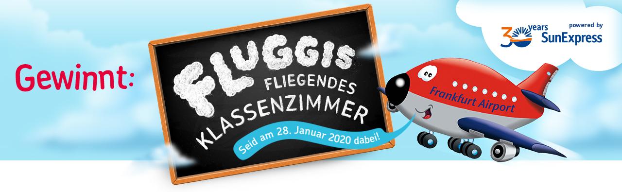 Gewinnt: Fluggis fliegendes Klassenzimmer powered by SunExpress