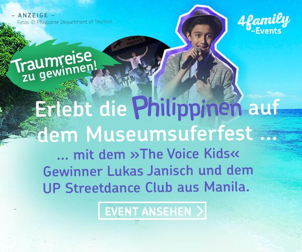 Erlebt die Philippinen auf dem Museumsuferfest mit dem Gewinne von the Voice of Kids Lukas Janisch und dem UP Streetdance Club aus Manila