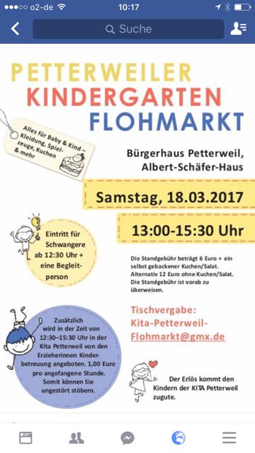Entdeckt Die Veranstaltung Petterweiler Kindergarten Flohmarkt In